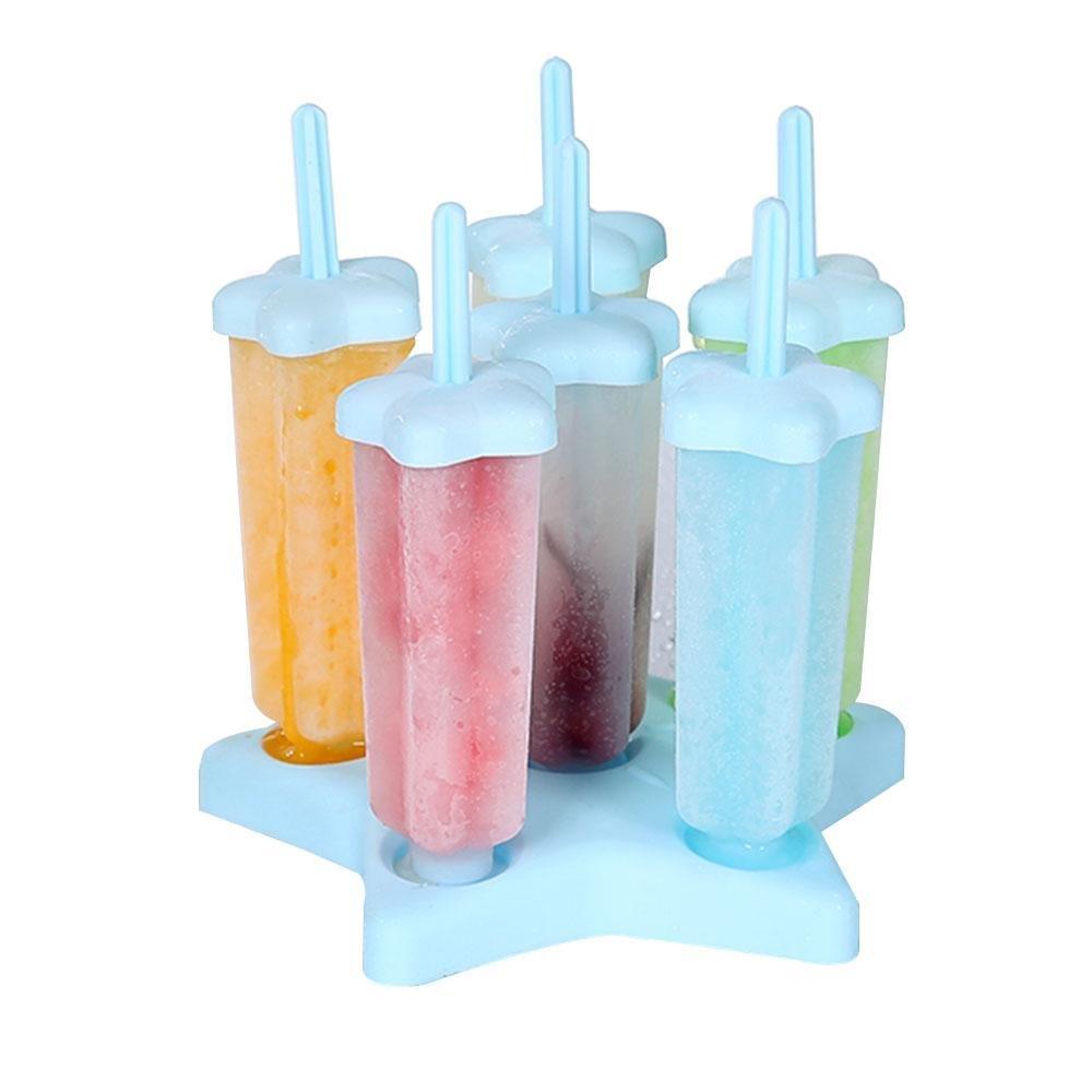 Compra Pawaca Molde para pájaros forma de estrella para hielo helado, polaco, helado, yogur helado, palo de leche con tapa y base en Amazon.es