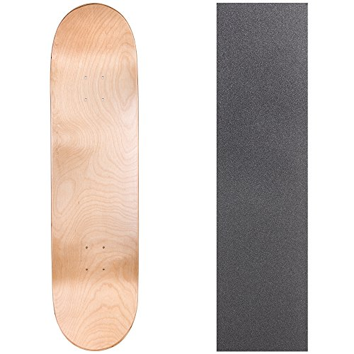 Cal 7 Blank Skateboard Deck with Grip Tape | 7.75, 8.0 and 8.25 Inch | Maple Board for Skating (8 inch, Natural)