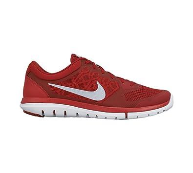 Nike Men's Flex Experience RN (Gym Red/Bright Crimson/White/Metallic Silver
