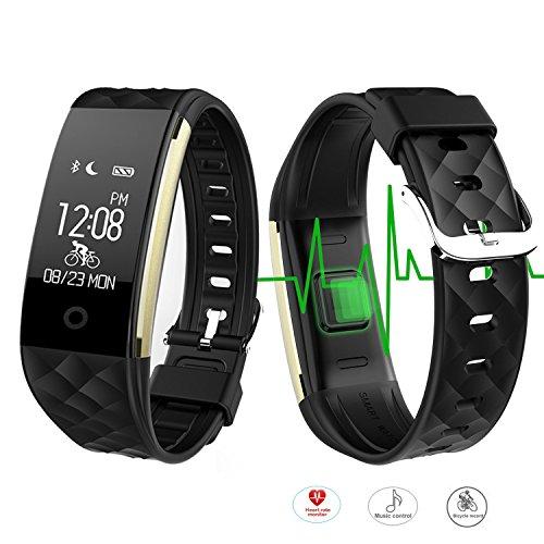 ROGUCI 0,96 pulgadas OLED Bluetooth inteligente perseguidor / perseguidor IP67 a prueba de agua pulsera pulsera portátil, Acción de fitness brazalete de seguimiento inteligente con monitor de ritmo cardiaco, el modo de movimiento múltiple montar en bicicleta , compatible con los teléfonos inteligentes Android 4.3 IOS 7.0 iphones BT 4.0