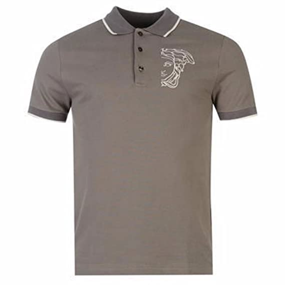 cf09a672f Versace - Mens - Polo - Charcoal - Large - Fashion: Amazon.co.uk: Clothing