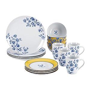 Paula Deen 58368 Signature Spring Prelude 16-Piece Dinnerware Set