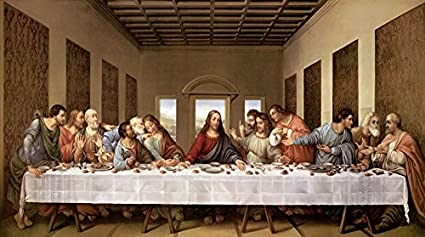 amazon com the last supper by leonardo da vinci art print 40 x 21