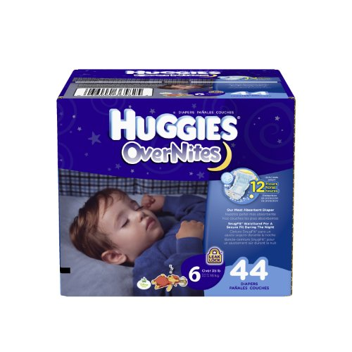 Pooh Diapers Disney The Winnie (Huggies OverNites Diapers, Size 6, Big Pack, 44 Count)