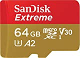 SanDisk Extreme 64GB microSD UHS-I Card with Adapter - 160MB/s U3 A2 - SDSQXA2-064G-GN6MA