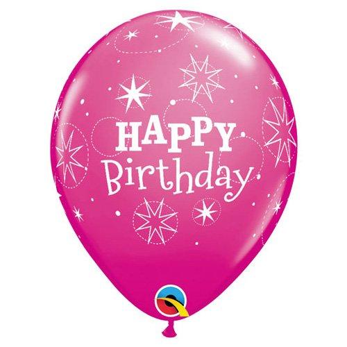 11 Multicolor 6 Pk Qualatex Latex Balloons 49579-Q Birthday Sparkle