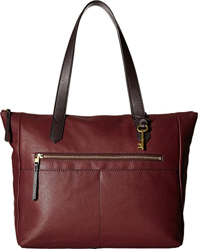 Fossil Fiona E/W Tote Bag, Cabernet by Fossil