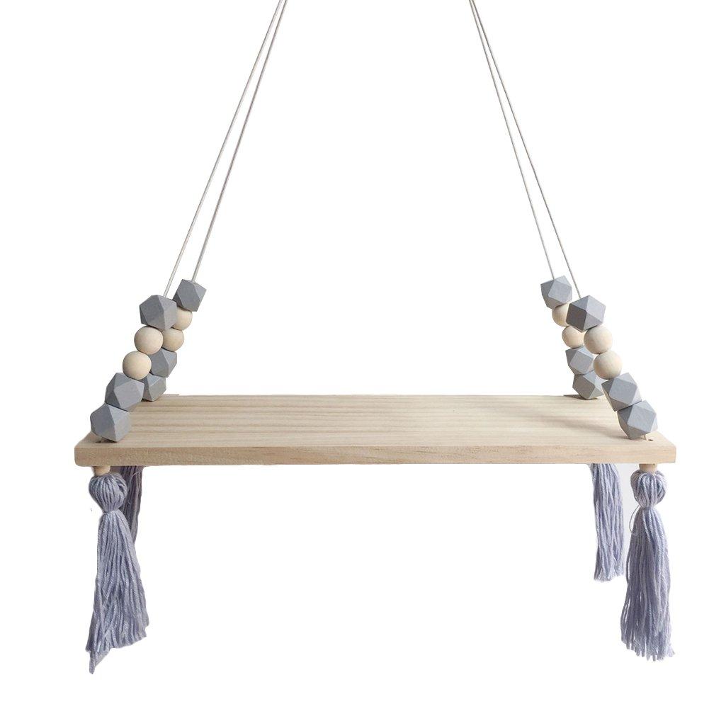Shuohu Nordic Display Wall Hanging Shelf Swing Rope Floating Shelves Home Decor