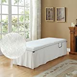 Premium Deluxe Chenille Cotton Massage Sheet Set by body lines (white)