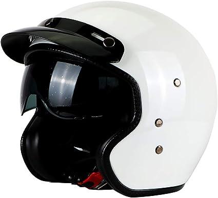 Casque Jet ECE Homologu/é Noir M-3XL 53-64cm LALEO Haute Duret/é FRP Vintage Harley Casque /à Visage Ouvert D/étachable Respirant avec Lunettes pour Homme et Femme Adulte