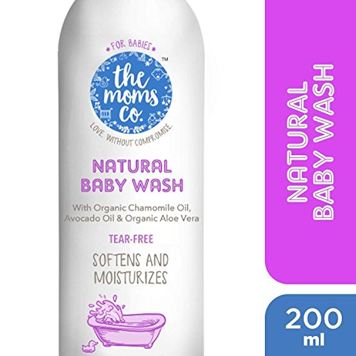 The Moms Co. Tear-Free Natural Baby Wash with Calendula, Avodado Oils and USDA-Certified Organic Oils Like Argan, Chamomile – 200ml