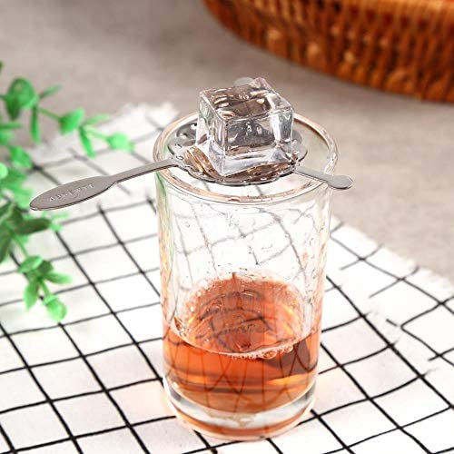 OHOME 1 PC Stainless Steel Absinthe Spoons Wire Strainer Cocktail Shaker Drinking Colander Filter Bar Wormwood Spoon Bar Accessories,2
