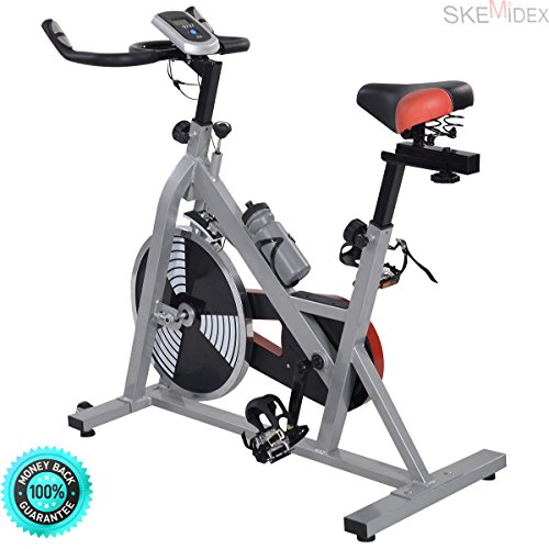 SKEMIDEX---Exercise Bike Indoor Cycling Health Fitness Workout Bicycle Stationary Exercising Indoor Health Fitness Bicycle Stationary Exercising Workout SKEMIDEX