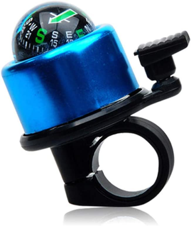 Small Decorative Black Compass Aluminum Loud Crisp Clear Sound Classic Bike Bell Mountain Bike Accessories LanT Bicycle Bell