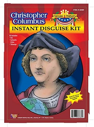 Child Heroes in History Instant Disguise Kit - Christopher Columbus - Hat, Inflatable Globe, and (Kids Christopher Columbus Costume Kit)