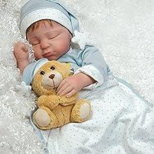 "Paradise Galleries Lifelike Boy Baby Doll ""Lil Man In The Moon"" Sleeping Reborn in GentleTouch Vinyl, 21 inch"