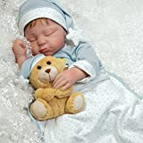 Paradise Galleries Lifelike Boy Baby Doll Lil Man in The Moon, Sleeping Reborn in GentleTouch Vinyl, 21 inch, 5-Piece Set