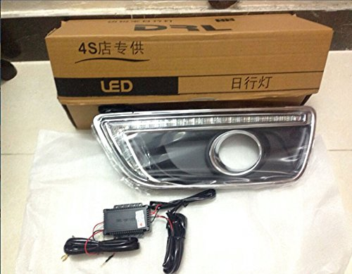 2X LED Daytime Running Lights DRL Fog Lamp For Chevy Chevrolet Malibu 2013 2014 2015 With Amber Turn Signal Lamp CNAutoLicht