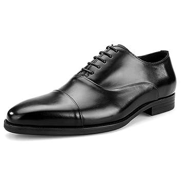 50222dfd HGDR Zapatos Oxford de Cuero de los Hombres clásicos Zapatos con Cordones de  Vestir de Negocios Formal Zapatos de Fiesta de Bodas, 4 Colores: Amazon.es:  ...