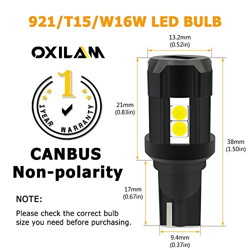 OXILAM-912-921-LED-Bulbs-Backup-Reverse-Light-2000-Lumens-Extremely-Bright-Canbus-Error-Free-with-High-Power-3030-Chipsets-Upgrade-Version-2-PACK