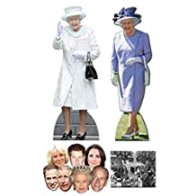 "Queen Elizabeth II 90th Birthday Commemorative Pack A - includes 2 x Cardboard Cutouts, 7 x Masks and 8x10"" Photo"