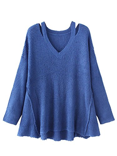 Choies Acrylic Shoulder Pullover Sweaters