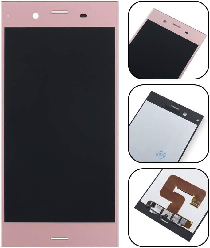 Black LCD Screen Mobile Phone and Digitizer Full Assembly for Sony Xperia XZ1 Color : Black