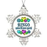 Personalized Christmas Snowflake Ornaments Bingo Decorating Christmas Tree Ideas Game