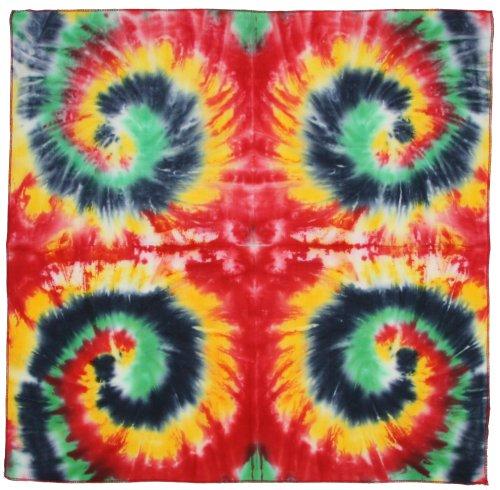 - Sunshine Joy Tie Dye Rasta Multi Spiral Bandana