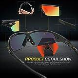 Torege Polarized Sports Sunglasses With 3
