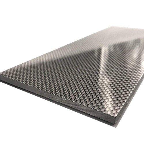 (ZYHOBBY 100% Carbon Fiber Sheet Plate/Panel 100mmX250mmX1mm-3K Weave Glossy Surface)