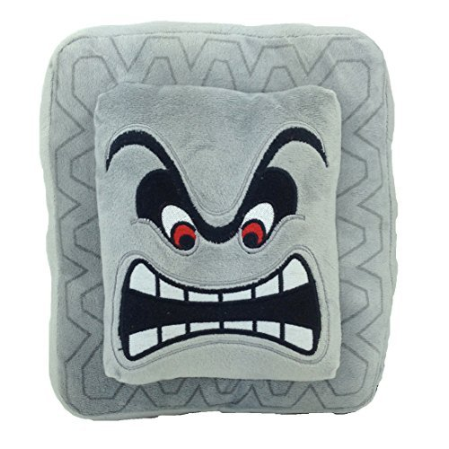 Generic Thwomp Super Mario Bros Character Dossun Cinder Block Plush Toy Stuffed Animal Pillow Soft Figure Doll 9