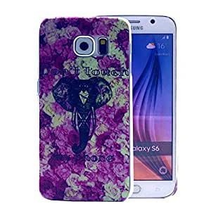 For Galaxy S6 Case, FocusUp Samsung Galaxy S6 SM G920 PC Hard Thin Case Armor Back Cove Clear Plastic Shell Skin Ultra Slim Rear Anti Shock Proof Hybrid Bumper Crystal Protective Style Personality Design 53