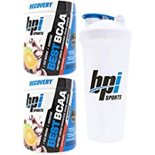 BPI Sports Best BCAA Peptide Linked Branched Chain Amino Energy Powder, 10.58oz, Pack of Two 30 Servings (Fruit Punch 2 x 30svg) with Official BPI Shaker
