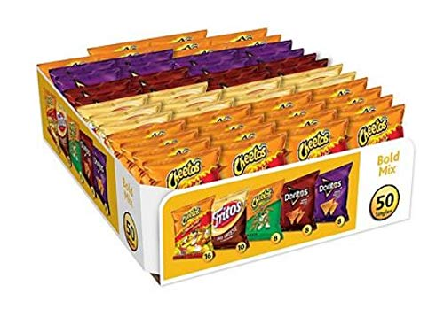 Frito Lay Variety Pack Mix of Kerstir Classic Chips K (50 Count, Bold Mix,)