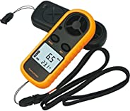 GS Digital LCD Hand-held Anemometer Infrared Thermometer Air Flow Wind Speed Gauge Meter NTC Temperature with