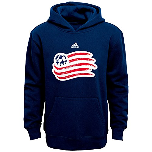 OuterStuff MLS New England Revolution Boys 8-20 Primary Logo Fleece Hoodie, Navy, - T-shirt Logo Primary New