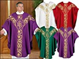 Embroidered Chasuble - White