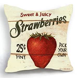 Pillowcases strawberry 18x18(inches)