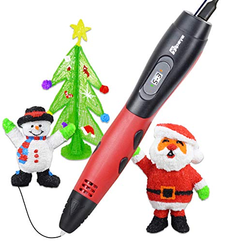 TIPEYE 3D Pen for Kids with 200 Stencils EBook 2019 Newest Version 3D Pen Kits with 7.5m PLA Filament 3D Printing Pen with LCD Display PLA Filament Refills for Adults, Doodling, Artist, Girls, Drawing