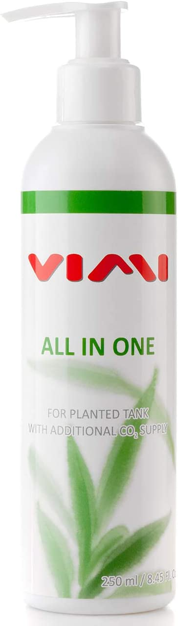 VIMI All in One Aquarium Plant Fertilizer - Micro & Macro Nutrient Rich Plant Food for Freshwater Tank with Additional CO2 Supply (250 ml / 8.45 oz)