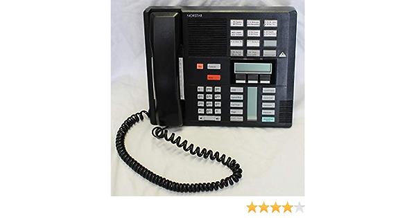 Nortel//Meridian M7310 PBX Black 4-7 Line Telephone with Speaker Renewed Norstar NT8B20