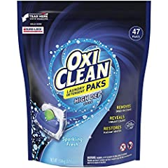 Get triple the cleaning power with OxiClean High Def Clean Sparkling Fresh Laundry Detergent Paks. Two liquid detergents combine with a powder to give you three powerful ways to keep your clothes looking and smelling great. Reveals vibrant co...