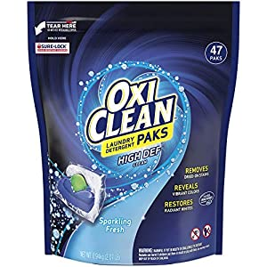 Best Epic Trends 51Rp%2BSedpqL._SS300_ OxiClean High Def Clean Sparkling Fresh Laundry Detergent Paks, 47 Count
