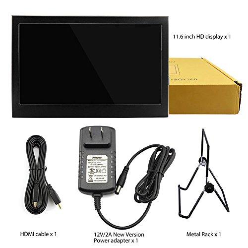 Elecrow 11.6 Inch 1920X1080 HDMI VGA PS3 PS4 WiiU Xbox360 1080P LED Display Moniter for Raspberry Pi 3, 2 1 Model B B+ Windows 7 8 10 System Home Office (Black) by Elecrow (Image #7)