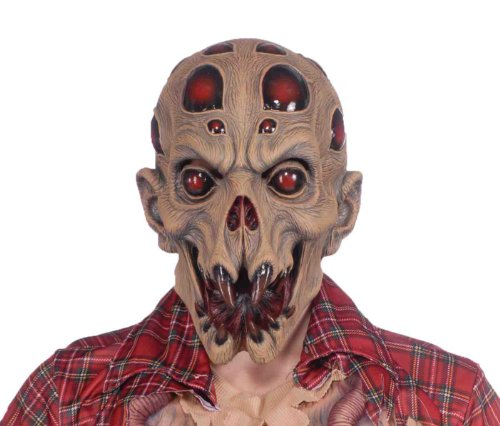 Forum Novelties Men's Alien Abduction Deluxe Latex Mask, Brown, One (Alien Abduction Adult Costumes)