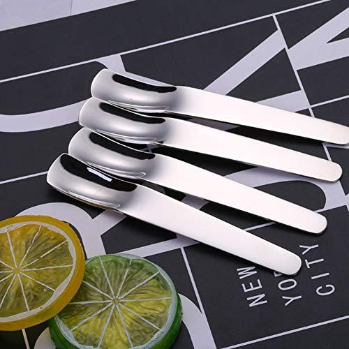 Kitchen Household Stainless Steel Coffee Ice Tea Ice Cream Mixing Spoon Sulti-Purpose Creative Spoon 10pcs