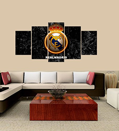 PEACOCK JEWELS [Small] Premium Quality Canvas Printed Wall Art Poster 5 Pieces / 5 Pannel Wall Decor C Ronaldo Real Madrid Painting, Home Decor Pictures - Stretched