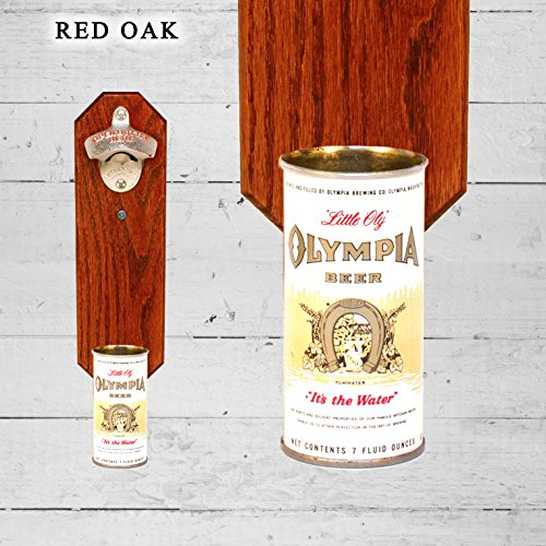 wall-mounted-bottle-opener-with-vintage-olympia-little-oly-beer-can-cap-catcher