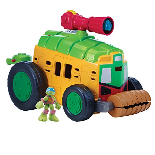 Teenage Mutant Ninja Turtles Pre-Cool Half Shell Heroes Shellraiser with Leonardo Vehicle and Figure]()